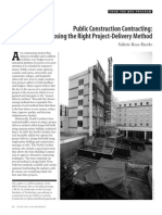 Choosing the Right Project-Delivery Method