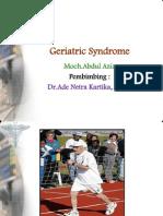 Geriatric Syndrome Referat Ppt.