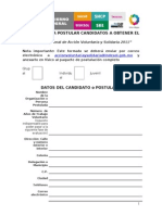 Formato de Postulacion Premio Accion Voluntaria