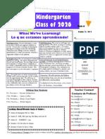 Kinder Newsletter Oct 21 2013