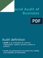 Social Audit of Business
