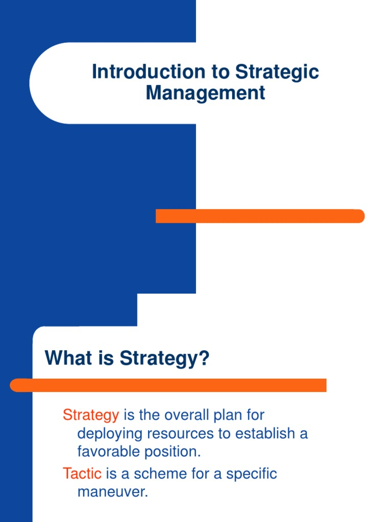 chapter one strategic management strategic management Chapter-1 an introduction to strategic human resource management (shrm) 11 the concept of shrm and its features strategic human resource management  one with.