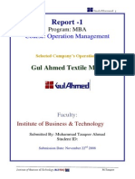 Operation Management Report (Textile) MBA