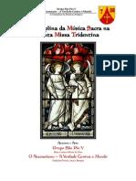 A disciplina da música sacra