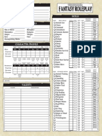 Warhammer Fantasy Roleplay 2nd Edition editable character sheet