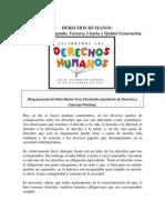 DERECHOS HUMANOS DE PRIMERA, SEGUNDA, TERCERA, CUARTA, QUINTA Y SEXTA GENERACIÓN