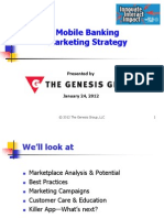 Genesis Mobile Banking Marketing Strategy 01 2012