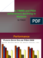 Reasons on Malaysia TIMMS and PISA Result