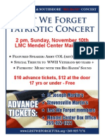 Lest We Forget November Concert