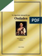 Le répertoire interprété par Oudaden