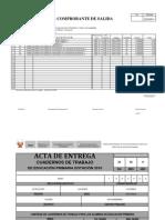 Pecosa Texto y Acta Primaria - 2012