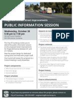 2013-10-17 City of Courtenay - Neighbourhood Flyer Fitzgerald Public Info Session