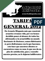 Tarifa Sac u a Rios Hispania 2012