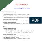 Orar Masterat 2013-2014 Sem 1