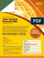Lotus Tech Uni 09 Invite and Enrol Form