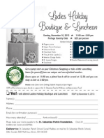 Ladies Holiday Boutique & Luncheon