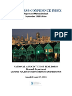Realtors Confidence Index Report September 2013