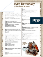 d&d 3rd Edition (Dungeons and Dragons) - Dwarven Dictionary