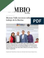 21-10-2013 Diario Matutino Cambio de Puebla - Moreno Valle Reconoce Esfuerzo y Trabajo de La Marina