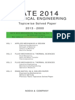 GATE Mechanical Solved Paper (2000-2013)
