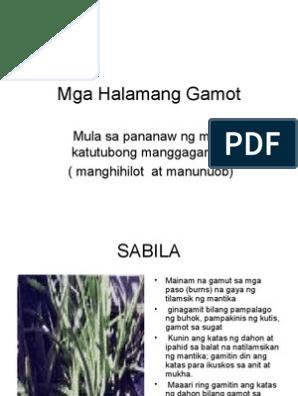 Mga Halamang Gamot: Mula sa pananaw ng mga katutubong
