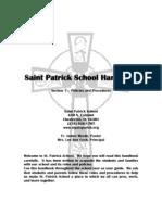 St. Pat's School Handbook