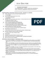 JDalton - Resume Supplement