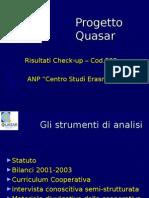 QU Presentazione Risultati - ANP Erasmo