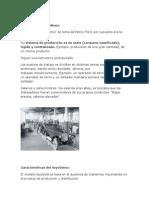 Caracteristicas Entre Toyotismo y Fordismo