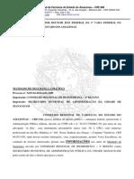 INFORMAÇÕES - MANDANDO DE SEGURANÇA - SEMSA