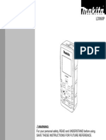 Makita LD060P-B Laser distance measure Manual