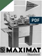 Emco Maximat Standart Plaquette 1968