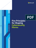 Five Principles for Shaping Cybersecurity Norms