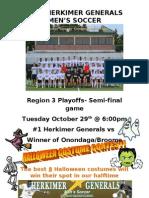 Men's Soccer Gameday Flyer