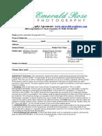 Portrait Photography Agreement