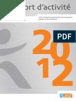 Rapport d'activité 2012-STIF.remis en octobre 2013pdf
