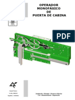 Operador Monof de Puerta de Cabina v.1.00 Mar 04