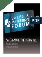 Sales Marketing Forum Confidencial Sanborns - Sears