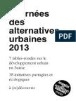 Journées des alternatives urbaines 2013