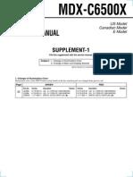 Sony MDX-C6500X Service Manual