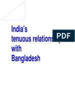 India's Tenuous Relationship With Bangladesh