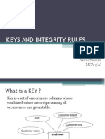 Keys and Integrity Rules