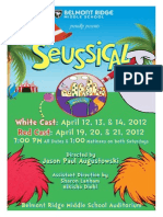 "BEMS ""Seussical"" Playbill"