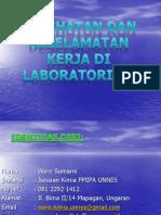 Kesehatan Dan Keselamatan Kerja Di Lab 25 April 2013 (1)