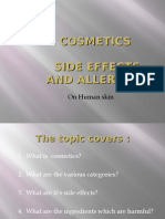 Cosmetics - Side Effects and Allergies on Human Skin