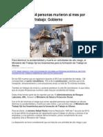 En Colombia 44 Personas Murieron Al Mes Por Accidentes de Trabajo