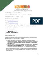 Anthony Brown 2013 MSEA Survey Responses