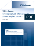 Integrating Web Intelligence Into Cyber Ops