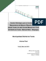 Informe Hidrologia Torata 19 Mar 2013