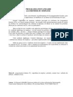 PROGRAMMATION_LINEAIRE_ALGORITHME_DU_SIMPLEXE P°